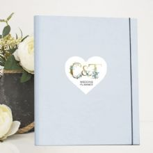 A4 Luxury Wedding Planner/Organiser Personalised with Initialled Heart - Ideal Engagement Gift